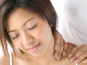 schouder, nek en hoofd massage